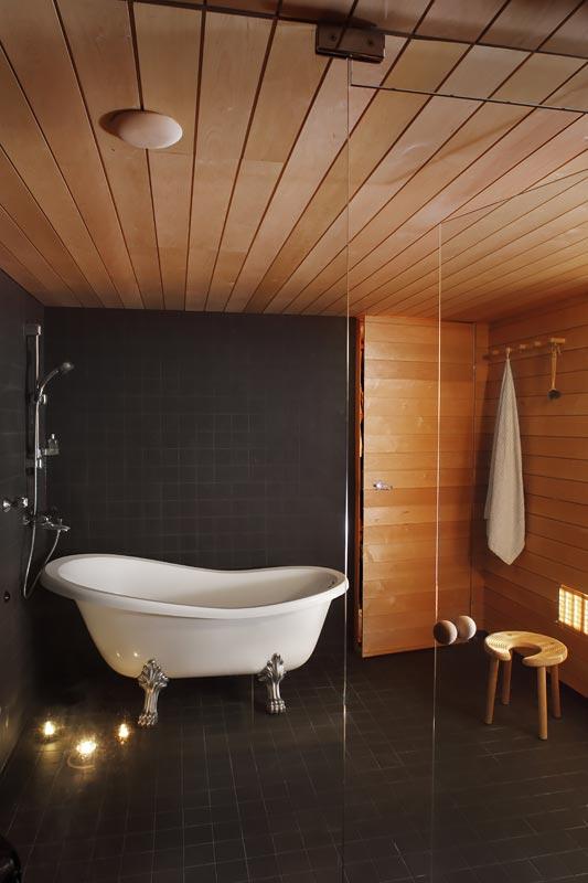 Kylpyhuoneen katto paneeli