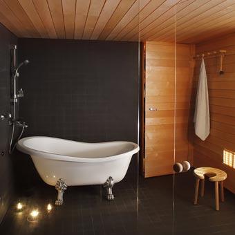 Tervaleppää kylpyhuoneessa